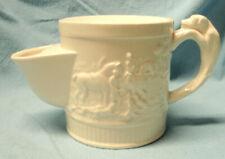 """WEDGWOOD DEVONSHIRE Shaving Mug 4"""" Retired Ivory Embossed Hunting Horse Dog EUC"""