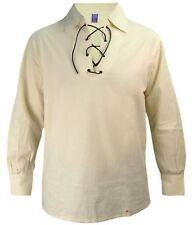 Gents Scotland Ghillie Shirt In Natural Colour Size Small