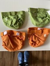 â­� Cloth Diapers â­� 4 cloth diaper covers & 4 Liners â­� gDiapers â­� Small â­�80 Insert