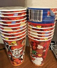 NEW 10 LOONEY TUNES PAPER CUPS  PARTY SUPPLIES TWEETY SYLVESTER BUGS BUNNY TAZ