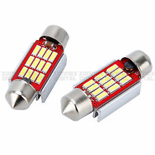 2pcs NO ERRORE BIANCO 12 SMD LED c5w 239 272 FESTONE REG number Plate Light Bulbs