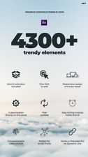 4300+ Trendy Motion Graphics Package v4. For After Effects and Premiere Pro CC
