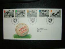 1996 légendes du football Royal Mail FDC & philatélique Bureau SHS CV £ 7
