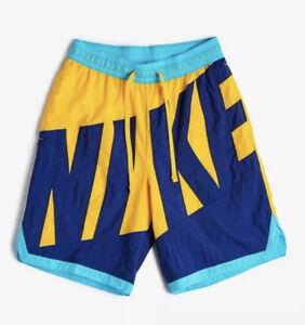 New Men's Nike Nylon Throwback Basketball Shorts. AT3165-739. Size Small-Tall