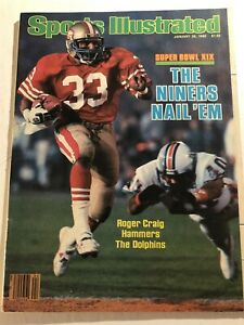 1985 Sports Illustrated SAN FRANCISCO 49ers vs Dolphins SUPER BOWL XIX No Label