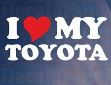 I LOVE/HEART MY TOYOTA Novelty Car/Window/Bumper Vinyl Sticker/Decal