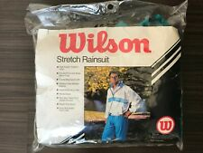 VTG Wilson Stretch Rainsuit - Blue Teal Purple - Men's Size XL - Elastic Vented