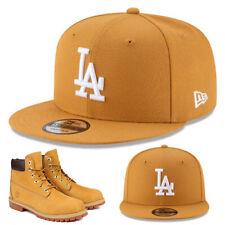 New Era L.A Dodgers Wheat Snapback Hat Matches Timberland 6 Premium Boots Cap