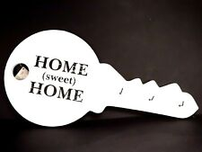 Wooden Wall Key Hanger Holder Vintage Style White - Key Home Sweet Home Design