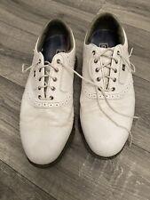 New listing FootJoy DryJoys Tour Mens Golf Shoe - Size UK 10 1/2 - Good Condition - White