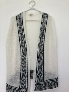 RIVER ISLAND TUNIC TOP/ AGE 9-10/ HOLIDAY, PARTY/ KNITTED CREAM & BLACK