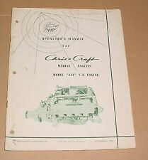 1961 Chris Craft Operators Manual Model 431 V8 Engine