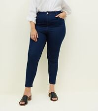4ef4bfb6386 Ladies Ex New Look Curves Jeans Plus Size Skinny Stretch Denim Blue   Black
