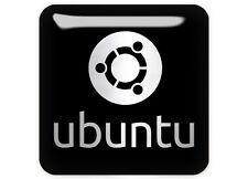 """Ubuntu 1""""x1"""" Chrome Domed Case Badge / Sticker Logo"""