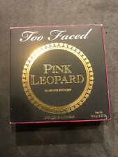 NIB Authentic TOO FACED Pink Leopard Blushing Bronzer  Full Size
