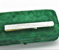 Vintage Sterling Silver tie clip / slide Art Deco Peaky Blinders Wedding #Y466