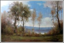 """Largest Original Oil Painting French Countryside Landscape On Canvas 48"""" x 72"""""""