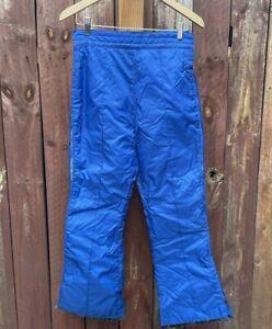 Vintage Blue Snow Ski Pants Men's Size XS Mountain Recreation Design