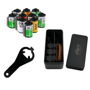 135 35mm Film Color B&W B/W Photo Negative Storage Case Reload Canister Opener