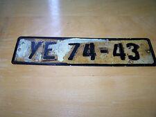 altes DDR Kennzeichen Nummernschild Trabant Wartburg Barkas Framo IFA