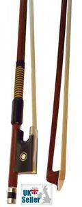Archetto Violin Bow 4/4 Full Size - Ebony Frog, Faux Whalebone Lapping