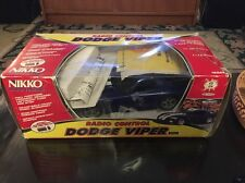 Vintage Nikko Blue Dodge Viper RC Radio Control Box Remote Papers!