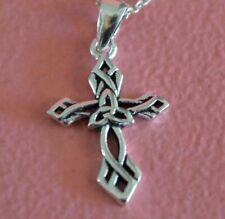 925 Sterling Silver Celtic Cross Pendant, Irish Religious Cross Pendant ONLY