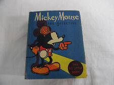 Vintage Mickey Mouse The Detective 1934 The Big Little Book Walt Disney 1139