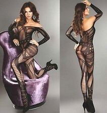 Sexy Fishnet Open Crotch Body Stocking Bodysuit Women Nightwear Lingerie
