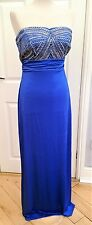 Lipsy Maxi Evening Dress size 14-16. Embellished Bandeau Royal Blue Dress. NWTAG