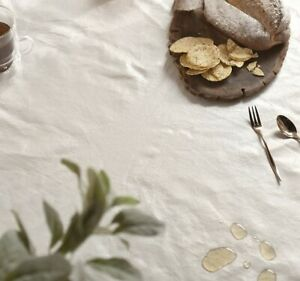 Natural Color Waterproof Table Cloth, Easy Care, Spill Proof | Made in Korea