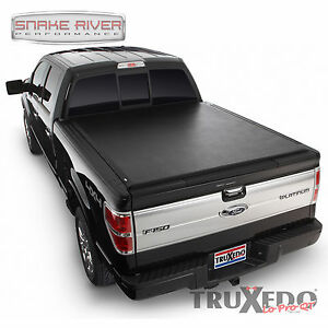 TRUXEDO BLACK SOFT ROLL UP TONNEAU COVER FOR 2004 - 2008 FORD F150 8' BED 578601