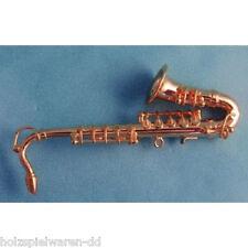 SA-Dollshouse 9/549 Delux Tenor Saxophone mit Koffer 1:12 für Puppenhaus NEU! #