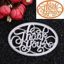 Letters Ellipse Dies Metal Cutting Stencil For Scrapbooking Paper Cards Craft