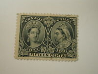 CANADA #58 1897 15 Cent Steel Blue QV Jubilee Used LH