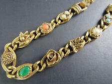 Vintage Gold Tone Bracelet Florenza Style Unsigned (A12-28)