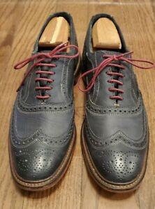 Allen Edmonds Neumok Sz 12 D Blue Leather Balmoral Wingtip Oxford Men Red Lace