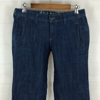 Old Navy womens size 6 X 32 stretch dark wash mid rise flare jeans LNC