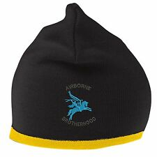 Airborne Brotherhood Beanie Hat with Embroidered Logo