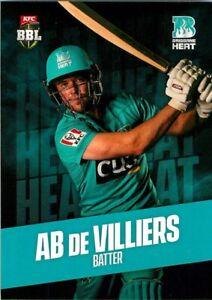 ✺New✺ 2019 2020 BRISBANE HEAT BBL Cricket Card AB DE VILLIERS
