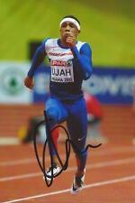 Athletics: Chijindu Ujah Signed 6x4 Action Photo+Coa *Rio 2016* *Team Gb*