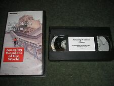 VHS PAL VIDEO-AMAZING WONDERS OF THE WORLD IN THE MIDDLE KINGDOM CHINA 52 MINS