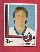 RARE 1987 OILERS PANINI # 97 ISLANDERS MIKE BOSSY  STICKER CARD