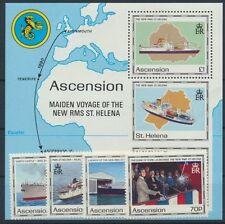 Ascension 535/38 Bl. 22 postfrisch / Schiffe ...................................