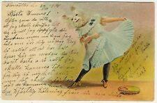 Dogs, Yorkshire Terrier, Dancer Lady, cute old postcard