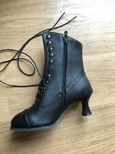 Womens Victorian Mid-Calf  Boots Steampunk  Heel Size 4