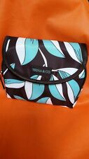 Trina & CO. Travel Cosmetic Bag Interior Mirror Flap Front Zip Top Unused