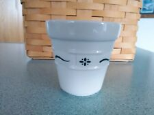Longaberger USA Pottery small Flower Pot in Heritage green NEW no box