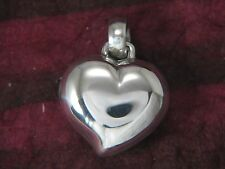 Puffy Heart 2 Pictures Locket Sterling Silver by Michael Bromberg