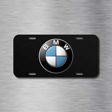 BMW Vehicle License Plate Front Auto Tag Bavarian Motor Works Beemer Blk Carbon